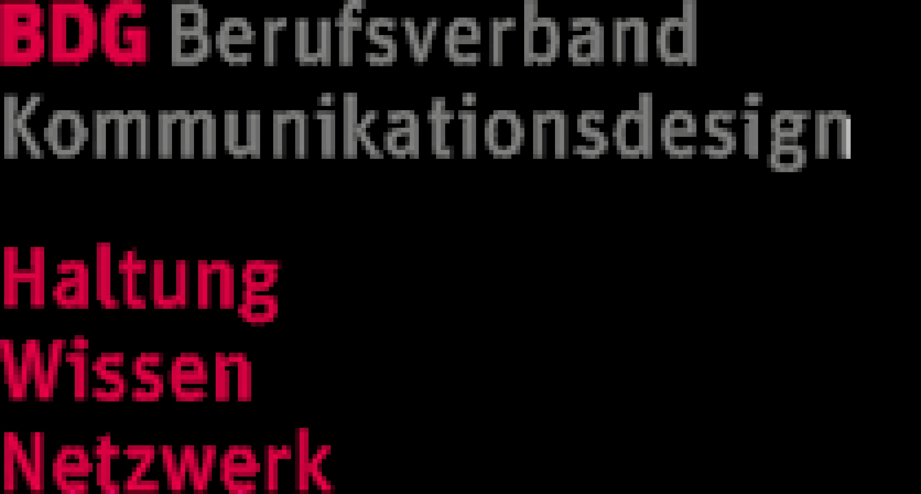 BDG Berufsverband der deutschen Kommunikationsdesigner e.V. gegr.  1919