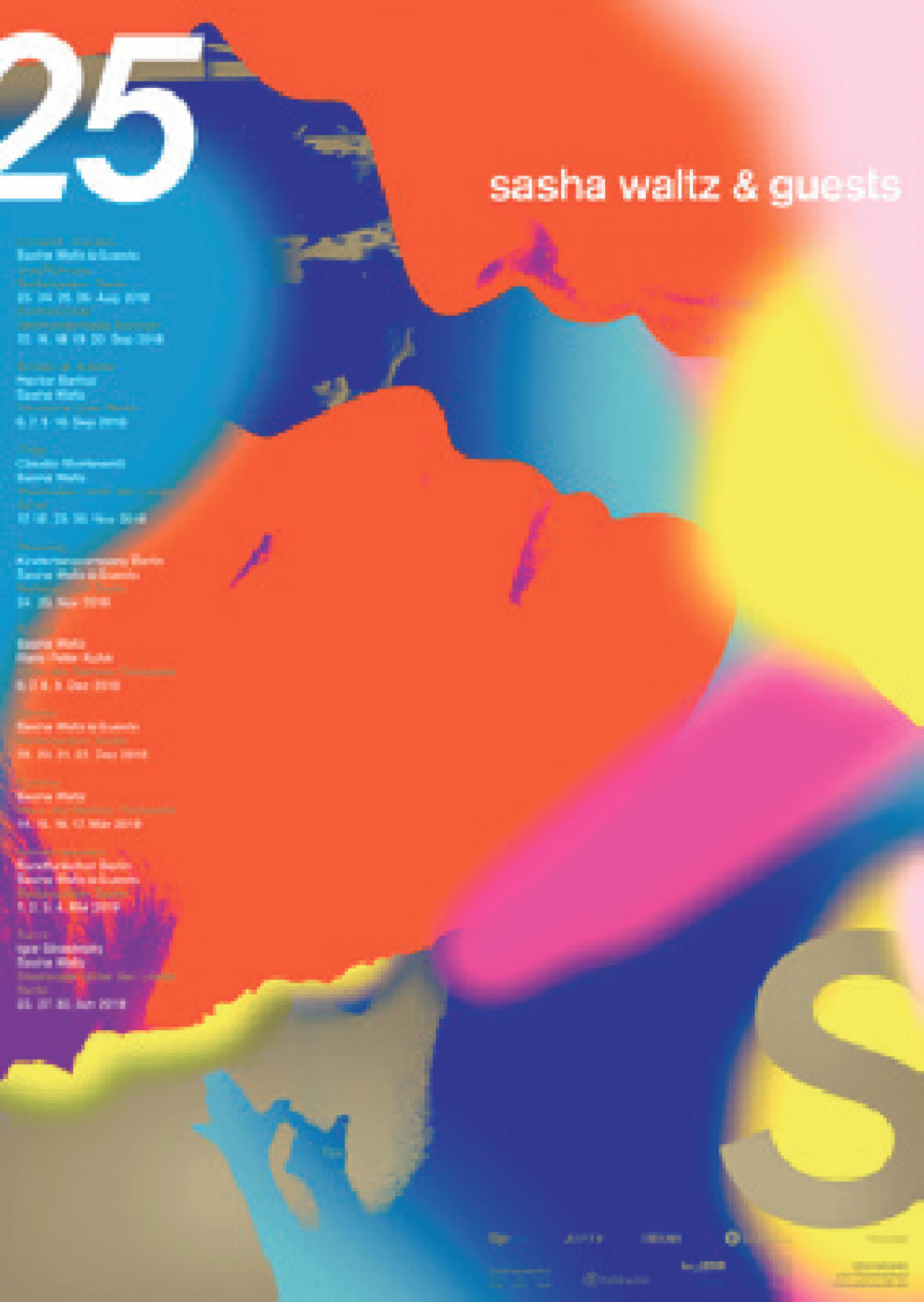 Daniel Wiesmann (Berlin) 25 Jahre Sasha Waltz & Guests Plakat (Siebdruck), 2018 © Daniel Wiesmann / 100 Beste Plakate e. V.